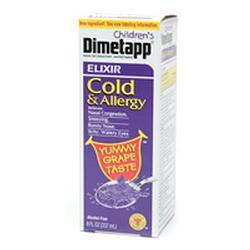 Dimetapp Childrens Cold and Allergy Elixir, Grape, 8 oz