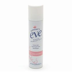 Summers Eve Feminine Deodorant Spray, Baby Powder, 2 oz
