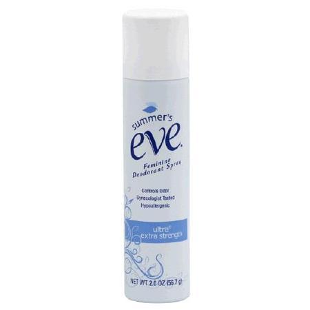 Summers Eve Feminine Deodorant Ultra Spray, Extra Strength, 2 oz