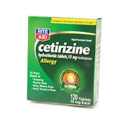Major Pharm Cetirizine Hydrochloride Tablets, 100 tab