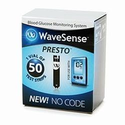 Wavesense Presto Test Strips, 50 ea