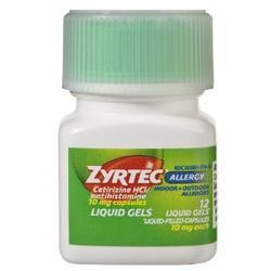Zyrtec Allergy Liquid Gels,  10 mg- 12 soft gels