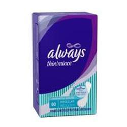 Always Thin Panty Liners, 12 Units 60 pad - PlanetRx