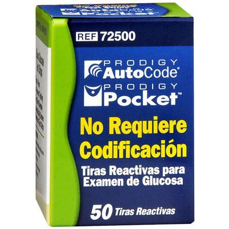 Prodigy Diabetes Care Autocode / Pocket Test Strips, 50 count