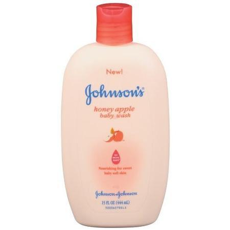 Johnson & Johnson Baby Wash,  Honey Apple, 15 oz