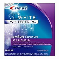 Crest 3D White Whitestrips 5 Minute Touch-Ups,  with Stain Shield, 28 pack