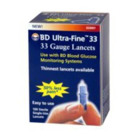 Becton-Dickinson Ultra Fine Lancet, 33G, 100 count