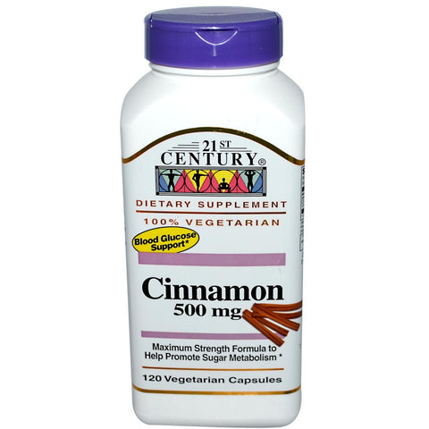 Twenty First Century Nutritional Products Cinnamon,  500 mg- 120 caplets