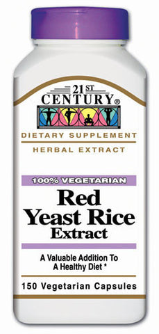 Twenty First Century Nutritional Products Red Yeast Rice, 150 caps