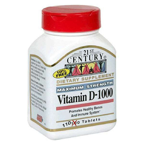 Twenty First Century Nutritional Products Vitamin D, 110 tab