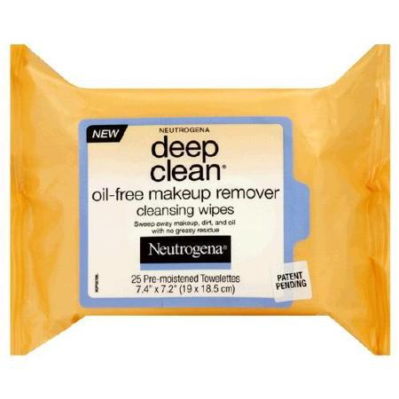Neutrogena Deep Clean Oil Free Makeup Removing Wipes, 25 count