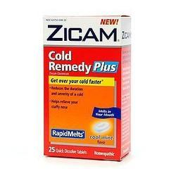 Zicam Cold Remedy Plus Rapid Melts, Cool Mint, 25 tab