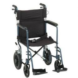 Nova Ortho-Med Lightweight Transport Chair,  with Hand Brakes, 1 ea