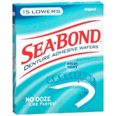 Sea-Bond Denture Adhesives Lowers, 15 ea