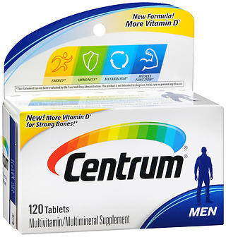 Centrum Men Bonus Size, 120 tablets