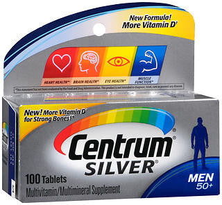 Centrum Silver Men 50+, 100 tablets