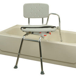 Roscoe Sliding Transfer Bench with Swivel Seat