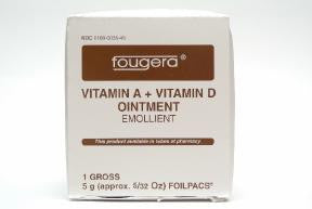 Vitamin A-D First Aid and Burn Ointment, Foil Packets, 144 Units 5 gram