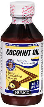 Humco Coconut Oil, 4 ounces