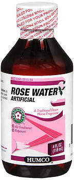 Humco Artificial Rose Water, 4 ounce