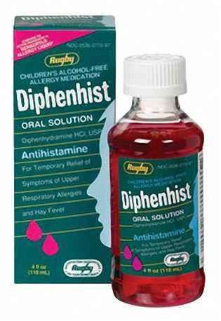 Diphenhist Elixir, Oral Suspension, 4 oz