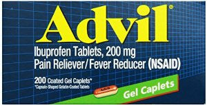 Advil Gel Caplets 200 mg, 200 capsules - PlanetRx