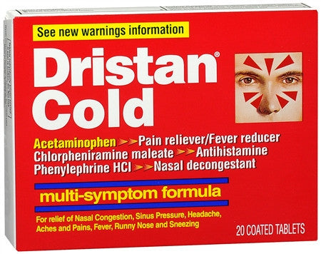 Dristan Cold, Multi-Symptom Formula, 20 coated tablets (ON BACKORDER)
