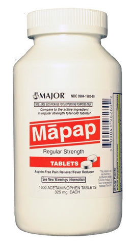 Major Pharm Mapap Aceteminophen, 1000 tab