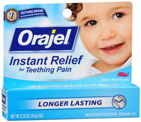 Orajel Instant Relief for Teething Pain, Cherry Flavored Gel