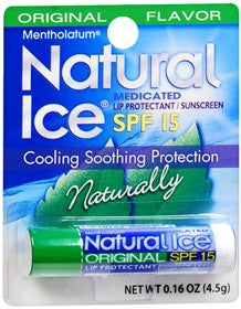 Natural Ice Medicated Lip Protectant/Sunscreen, 12 count