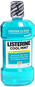 Listerine Antiseptic Mouthwash,  Cool Mint, 500 ml