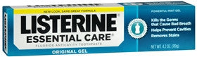 Listerine Essential Care Toothpaste Gel, Powerful Mint, 4.2 oz