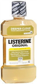 Listerine Antiseptic Mouthwash, Original, 250 ml