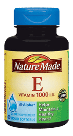 Nature Made Vitamin E 1000IU dl Alpha, 180 liquid gels