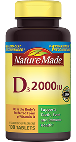 Nature Made Vitamin D3 2000IU, 220 tablets