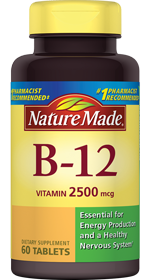Nature Made Vitamin B12 2500mcg, 60 tablets