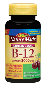 Nature Made Vitamin B12 Sublingual 3000mcg, 40 micro-lozenges