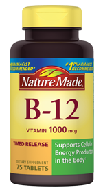 Nature Made Vitamin B12 1000mcg Time Release, 60 tablets