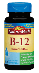 Nature Made Vitamin B12 1000mcg, 60 softgels