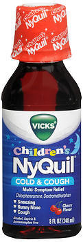 Vick's Children's Nyquil Cold & Cough Relief Liquid, Cherry flavor, 8oz