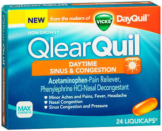 Vick's QlearQuil Daytime Sinus & Congestion, 24 LiquiCaps