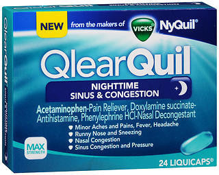 Vick's QlearQuil Nighttime Sinus & Congestion, 24 LiquiCaps