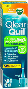 Vick's QlearQuil 12 Hour Nasal Decongestant Moisturizing Spray