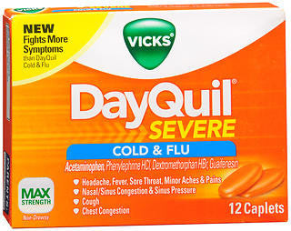 Vick's Dayquil Severe Cold & Flu Relief, 12 LiquiCaps