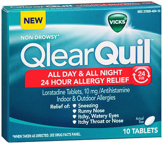 Vick's QlearQuil 24 Hour Allergy Relief, 10 tablets