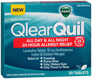 Vick's QlearQuil 24 Hour Allergy Relief, 20 tablets