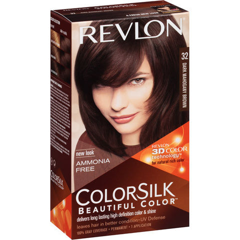 Revlon Colorsilk    Dark Mahogany Brown 32
