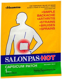 Salonpas-Hot Capsicum Patch, 50 patches