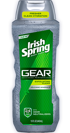 Irish Spring Gear Exfoliating Clean Wash, 15oz