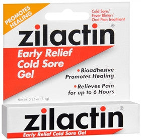 Zilactin Cold Sore Gel, 0.25 oz